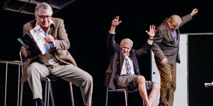 Vstupenka na představení Tři muži na špatné adrese na Letní scéně Harfa