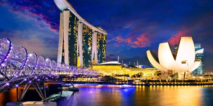Singapur, perla Asie: letecký zájezd v březnu 2019, 6 nocí v hotelu a průvodce