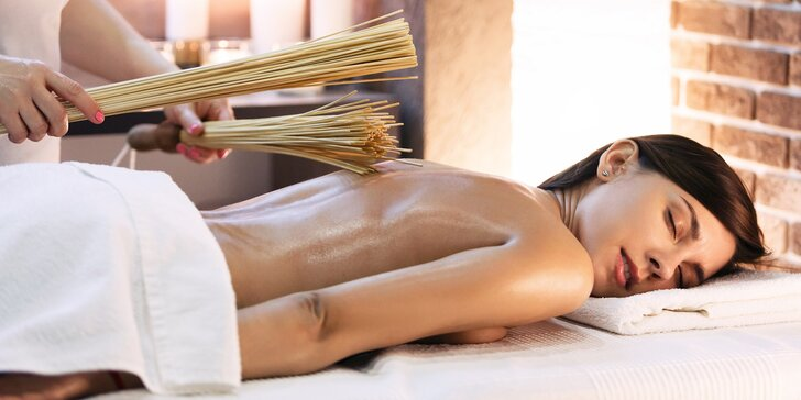 2hodinový relax s tantrickou masáží, peelingem a samurajskou masáží