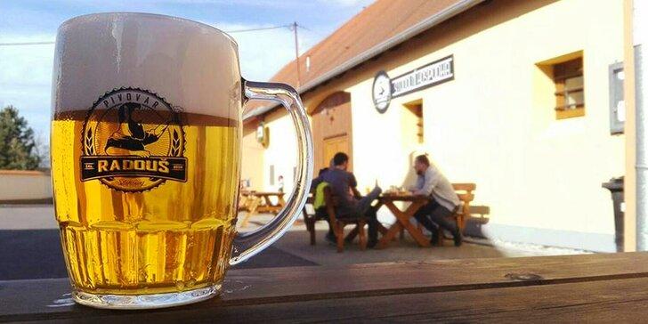2 piva dle výběru: Pilsner Ilgner, Stodolní desítka, Radoush Stout i řezané