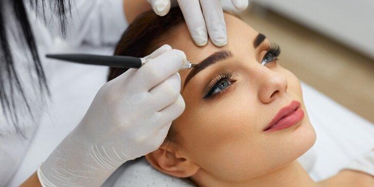 Permanentní make-up: horní nebo dolní oční linky či obočí