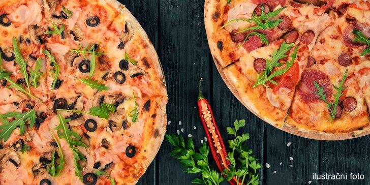 2 poctivé pizzy z pravých italských surovin: salámová, BBQ i pikantní