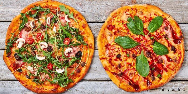 Dvě křupavé pizzy z kamenné pece přímo v bowlingovém centru