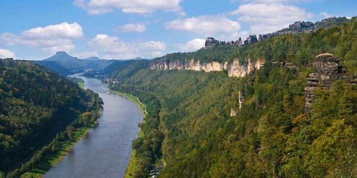Výlet vlakem do Bad Schandau s turistikou nebo koupáním v termálních lázních