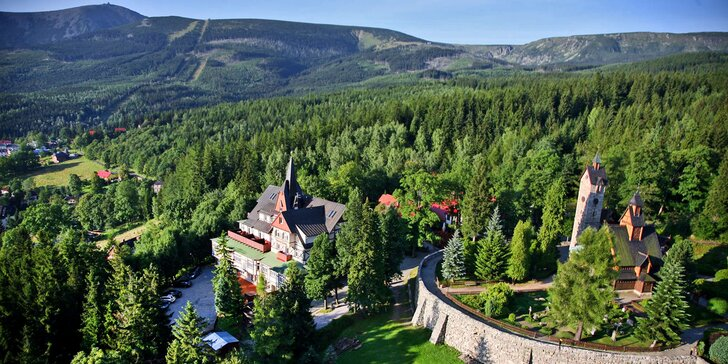 Vysokohorský pobyt v Krkonoších pro 2: polopenze a vstup do wellness & spa