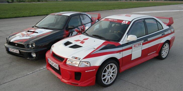Zajeďte 6 nebo 12 závodních kol v Subaru Impreza a Mitsubishi Lancer