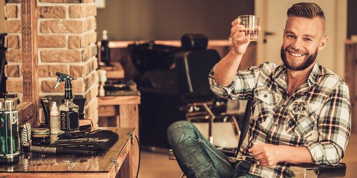 Exkluzivní péče pro muže: střih vlasů, holení, styling a nápoj na uvítanou
