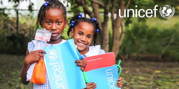 Podpořte s UNICEF děti z rozvojových zemí: tužky, míče i celá školní výbava