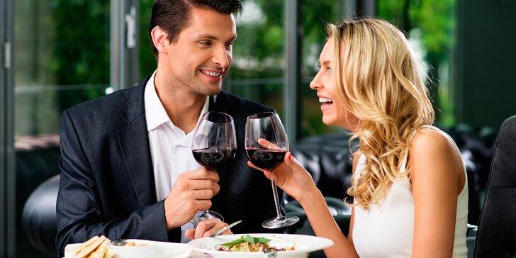 4chodové menu pro dva: mušle, risotto, ryba nebo hovězí steak i lahev vína