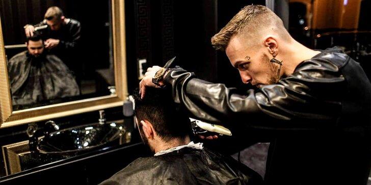Cosa Nostra barber shop: stříhání, holení i 90min. péče se sklenkou whisky