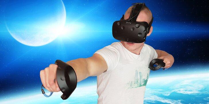 Fascinující virtuální realita: 60 nebo 120 minut pro jednotlivce i skupinku