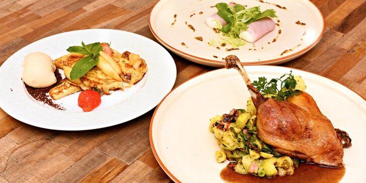 Degustační menu na Vinohradech: šunka, kachna a trhanec, možno i s vínem