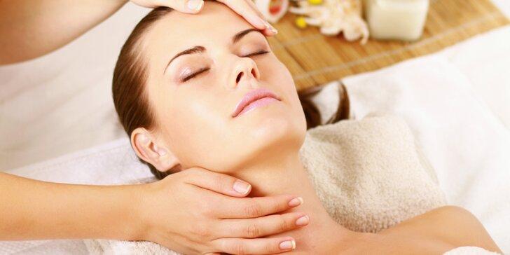 Dokonalý relax: Kosmetické ošetření obličeje nebo masáž obličeje