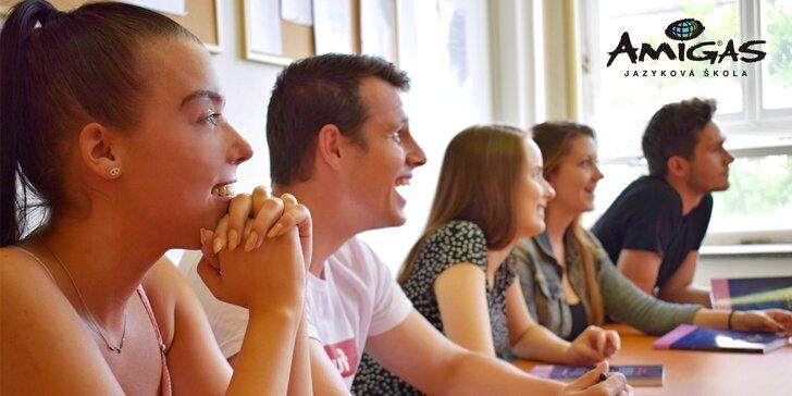 4měsíční kurz italštiny, španělštiny nebo francouzštiny konverzační metodou