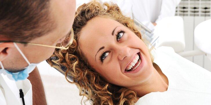 Důkladná dentální hygiena pro zářivý úsměv s air flow i bez