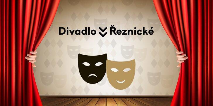 2 vstupenky na vybraná představení v Divadle v Řeznické se 40% slevou