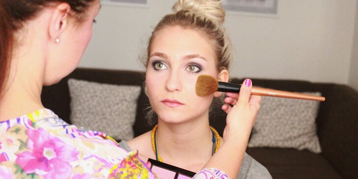 4hodinový intenzivní kurz Perfektní make-up s certifikátem