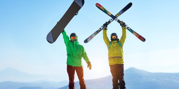 Důkladný a rychlý servis lyží nebo snowboardu pro zimní radovánky