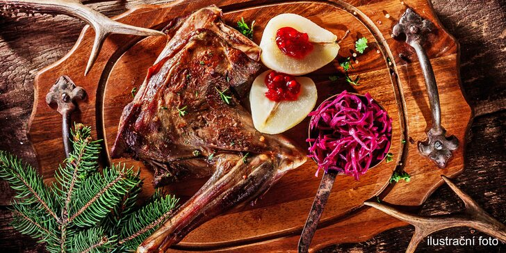 Pobyt pro 2 u Vranova se zvěřinovým menu, bazénem a vířivkou