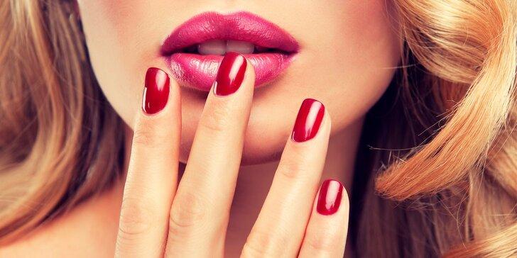 Lakování nehtů gel lakem včetně manikúry s možností zdobení