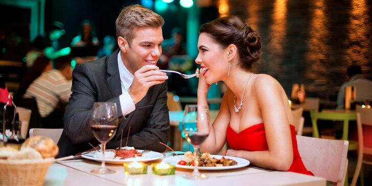3chodové menu pro pár: domácí paštika, dva druhy masa a dezert