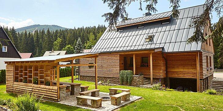 Moderní apartmán v Harrachově se saunou a opékáním pro partu či rodinu