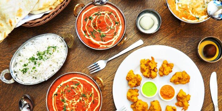 Tříchodové menu v nové indické restauraci: kuřecí či vege speciality i dezert