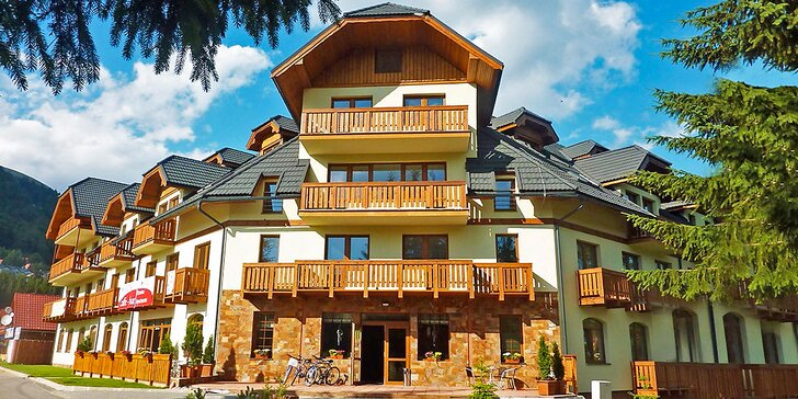 2-3 noci v apartmánovém domě v Nízkých Tatrách pro 2 i pro 4 výletníky
