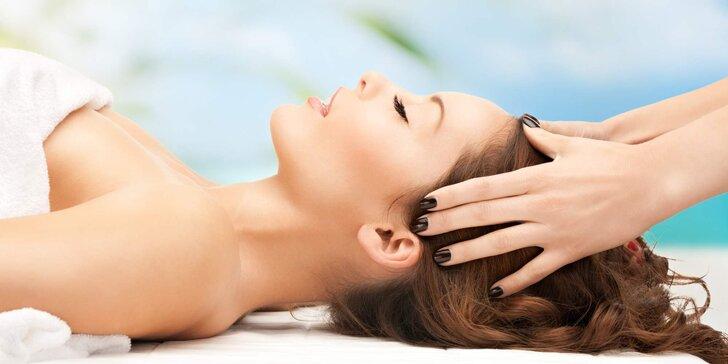 45 minut relaxace: Poctivá olejová masáž dekoltu, obličeje a hlavy