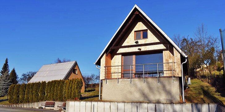 Chata nebo moderní apartmán s infrasaunou až pro 10 osob na 3 dny