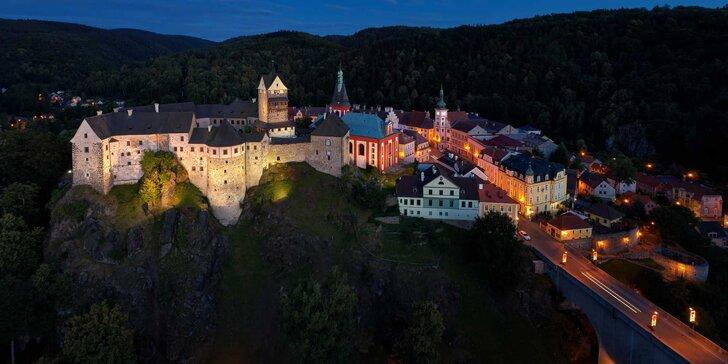 Romantika s výhledem na hrad Loket: 3–4 noci s bohatou snídaní pro dva