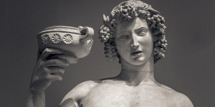 Dionýsovo tajemství: úniková hra pro 2–6 hráčů s vínem pro vítěze