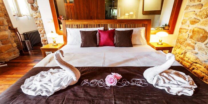 Romantický pobyt pro dva s wellness a večeří servírovanou přímo na pokoji