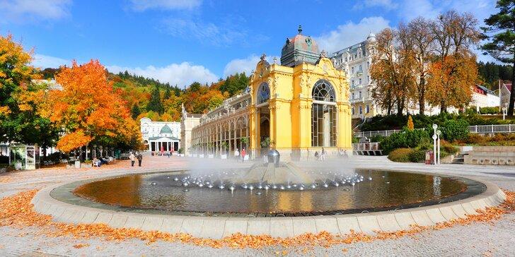 Podzim či zima v Mariánkách: hotel s polopenzí a až 13 procedur pro dva