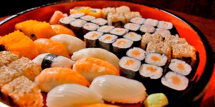 Kouzla Asie: až 72 kousků sushi, plněné taštičky Gunmandu a polévky