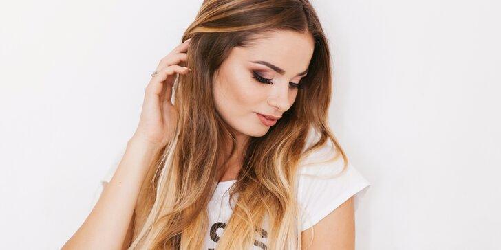 Moderní barvení vlasů včetně regenerace a střihu: Sombré či Chambre