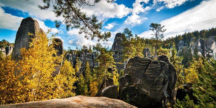 Čarokrásný Adršpach: Dovolená s polopenzí a termíny až do podzimu 2019