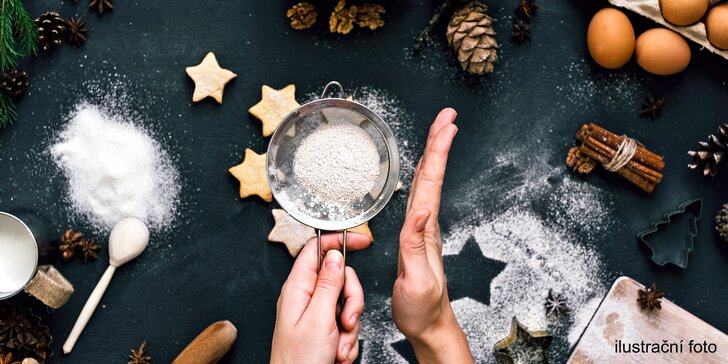 Pečení vánočního cukroví v kuchařské škole – odnesete si 5 druhů, cca 1,5 kg