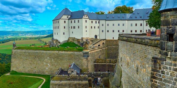 Vlakem na výlet: skalní pevnost Königstein, turistika i plavba lodí po Labi