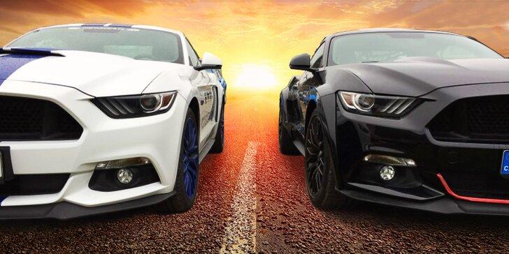 Unikátní zážitek: jízda ve vytuněném Fordu Mustang GT pro 1 i 2 řidiče