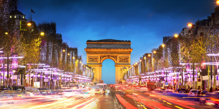 Romantický Silvestr v Paříži s jedním noclehem v hotelu a průvodcem
