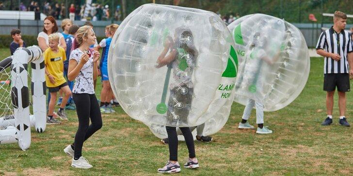 Bumper ball: Vyzkoušejte si fotbal v koulích v až 8 lidech