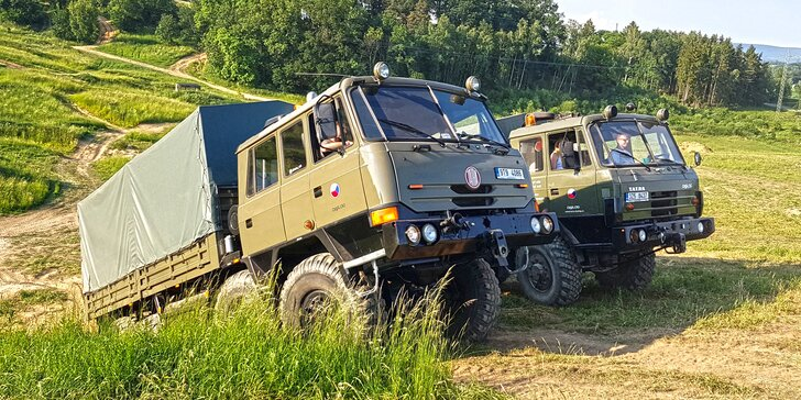 30 minut s gigantem: Adrenalinová jízda ve vozech Tatra 815 až pro 3 osoby