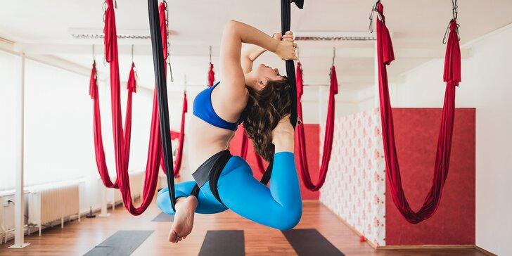3 lekce létající jógy: Fly yoga i Fly fitness, každá v délce 55 minut