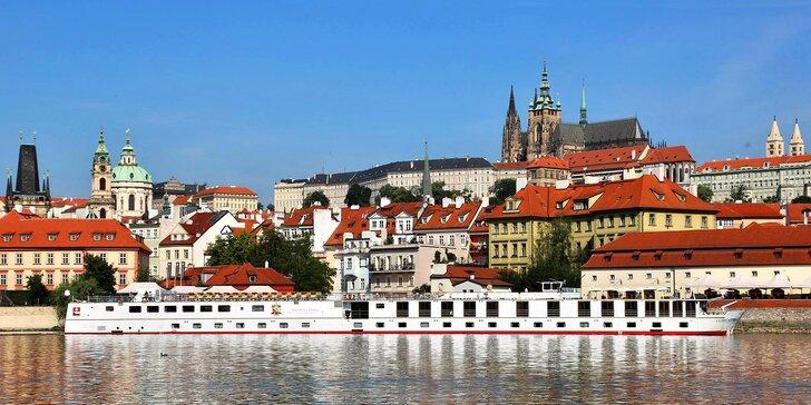 3denní romantický pobyt s polopenzí na palubě lodi v centru Prahy