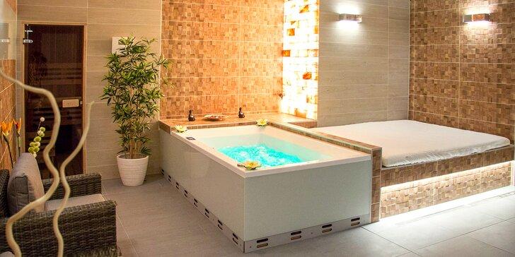 2 hodiny nerušené relaxace: sauna, koupel ve vířivce a občerstvení pro dva