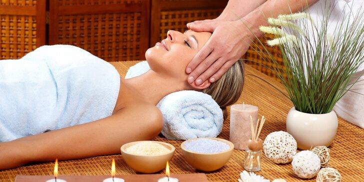 Uvolnění oblasti krční páteře: Indická masáž hlavy v délce 60 minut