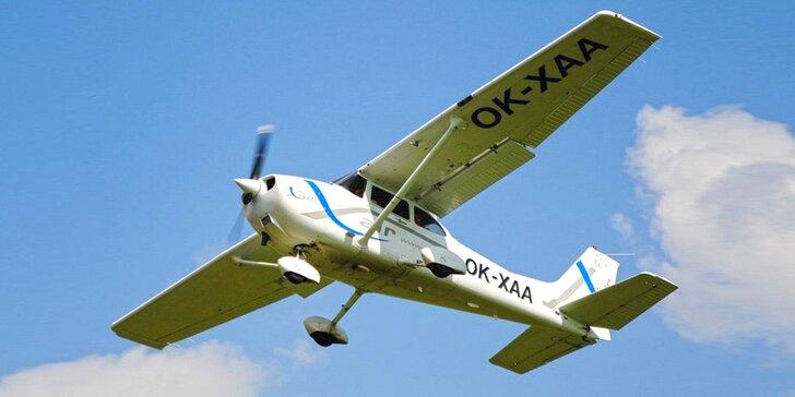 Pilotem letounů CESSNA na zkoušku: až pro 3 osoby, pozemní příprava i let