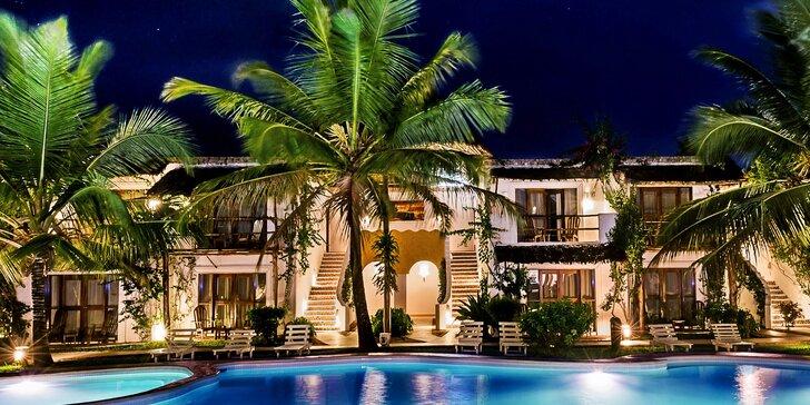 Nádherný 4* hotel na Zanzibaru: 6–12 nocí, all inclusive light, přímo u pláže