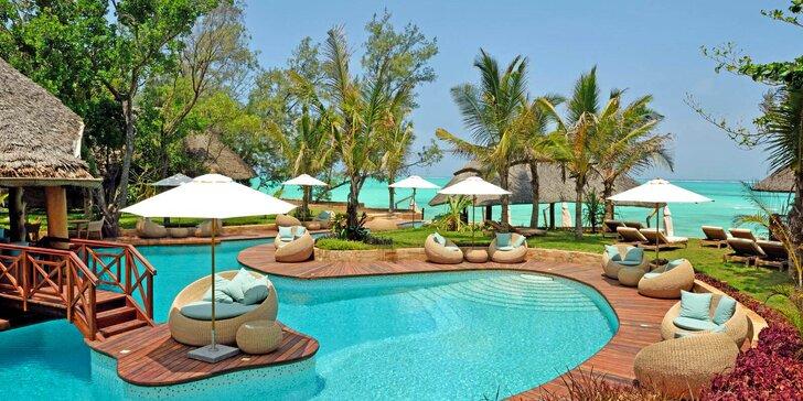 Překrásný 5* resort na Zanzibaru: 6–12 nocí, all inclusive, český personál